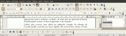 Barre d'outils du plugin Typography Toolbar
